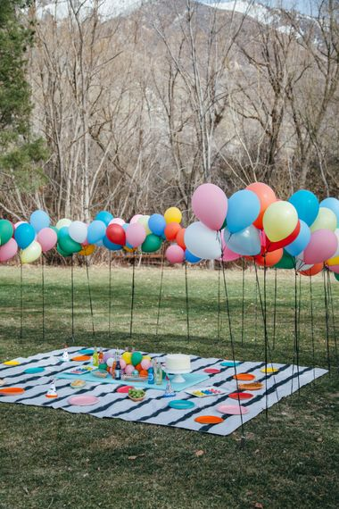 Epic Balloon Picnic For Little Ones At Weddings