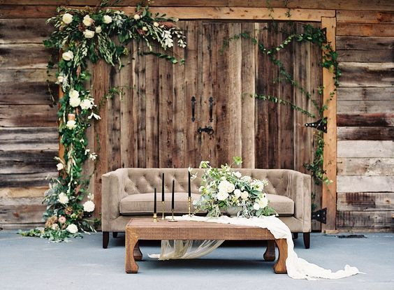 Pretty Outdoor Seating Area For Guests