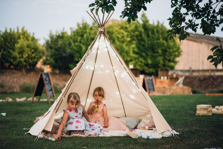 Tipi For Little Ones At Wedding