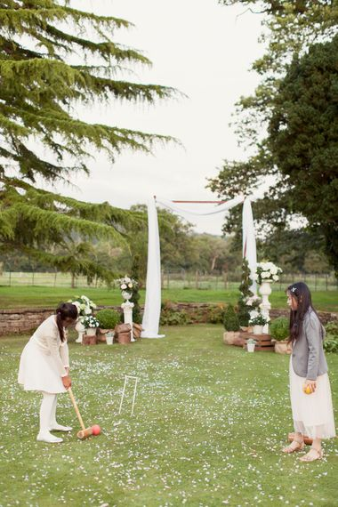 Croquet On Lawn For Wedding Guests