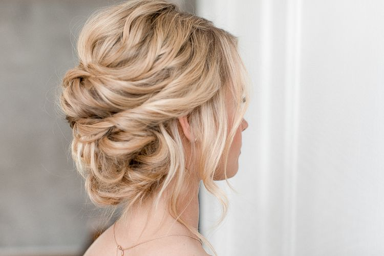 Loose & Romantic Up Do For Bride Or Bridesmaids // PANDORA Rose Jewellery To Compliment A Blush Pink Bridesmaids Dress & Romantic Up Do