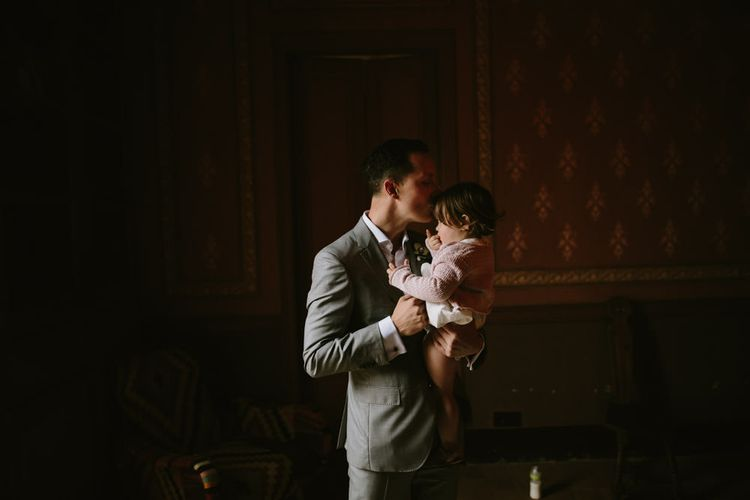 Groom & Daughter | Spanish Wedding at Can Valldaura Planned by Collage eStudio | Images by Marcos Sanchez | Monika Frias Videography