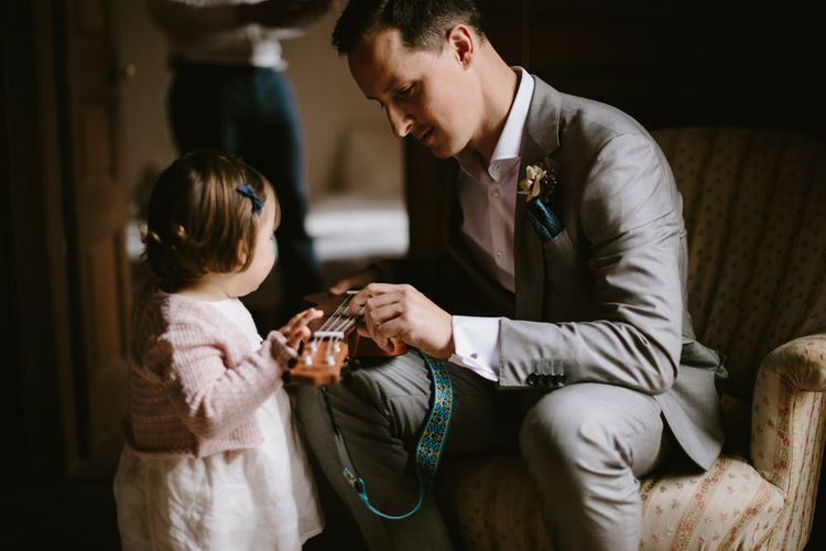 Groom Father & Daughter Moment | Spanish Wedding at Can Valldaura Planned by Collage eStudio | Images by Marcos Sanchez | Monika Frias Videography