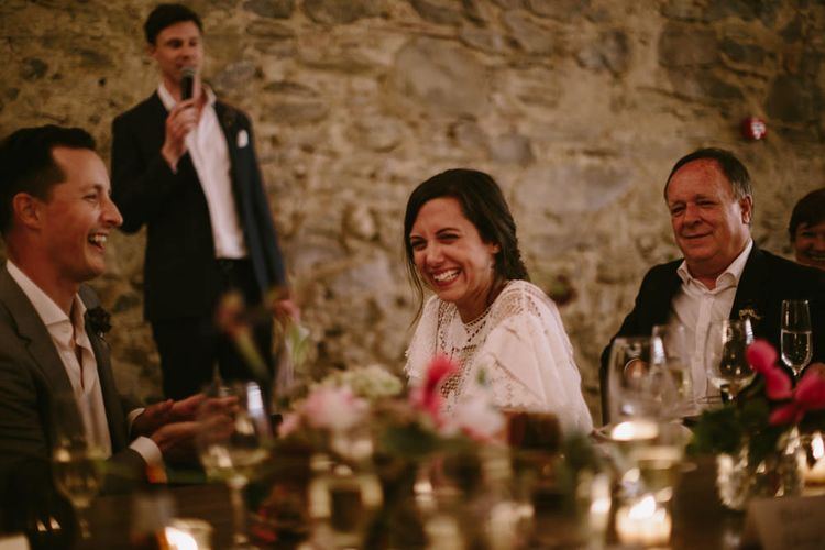 Wedding Speeches | Spanish Wedding at Can Valldaura Planned by Collage eStudio | Images by Marcos Sanchez | Monika Frias Videography