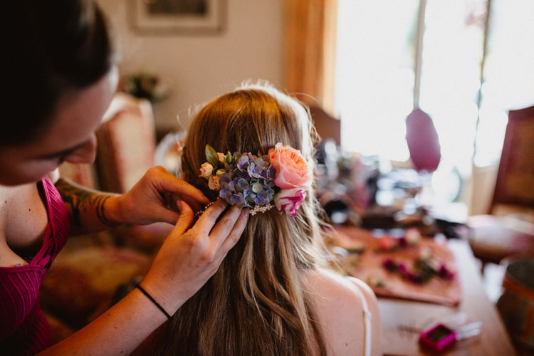Flowers In Hair For Bride & Bridesmaids