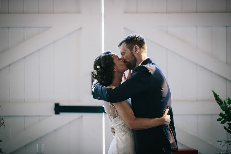 Wedding Ceremony // Trinity Buoy Wharf Wedding With Bride In Otaduy And Planning By Liz Linkleter Events Flowers By Grace And Thorn Images From My Beautiful Bride Photography
