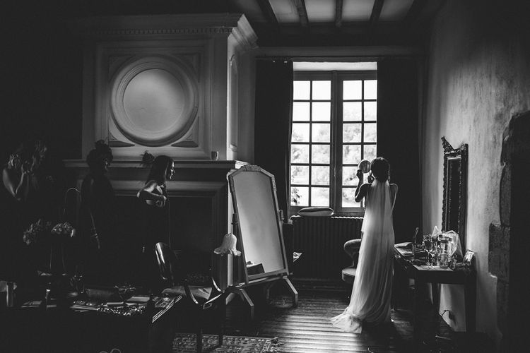 Bridal Preparations | Outdoor Wedding at Chateau Rigaud in France | Real Simple Photography | Yellow Gazelle Film
