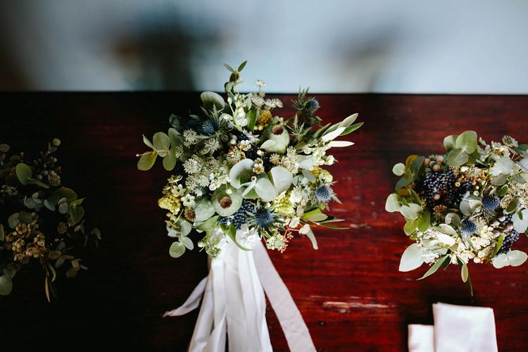 Greenery Bouquet | Outdoor Wedding at Chateau Rigaud in France | Real Simple Photography | Yellow Gazelle Film