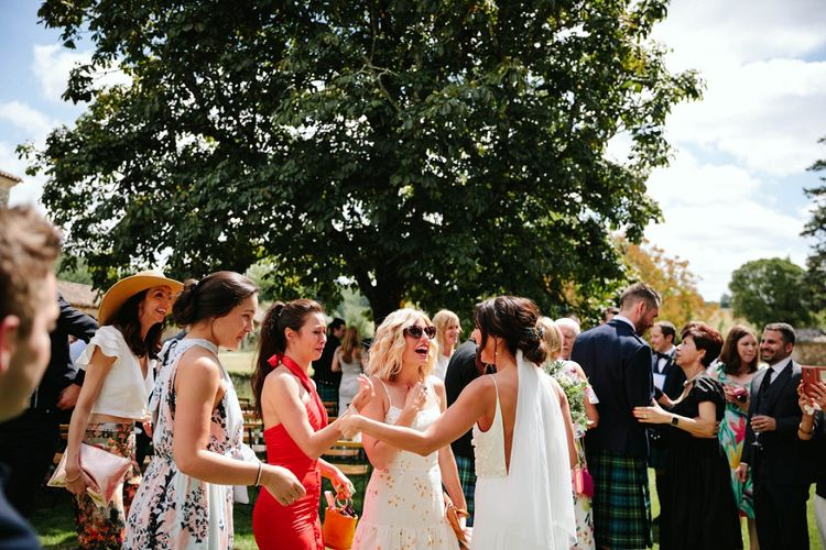 Wedding Guests | Outdoor Wedding at Chateau Rigaud in France | Real Simple Photography | Yellow Gazelle Film