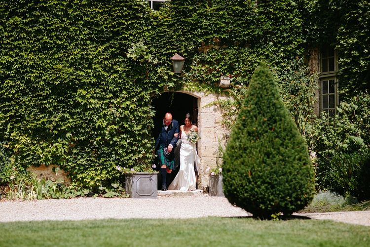 Bride in Phase Eight Wedding Dress | Outdoor Wedding at Chateau Rigaud in France | Real Simple Photography | Yellow Gazelle Film