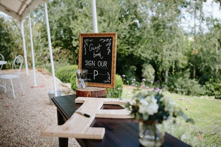 Alternative Guest Book | Outdoor Wedding at Chateau Rigaud in France | Real Simple Photography | Yellow Gazelle Film