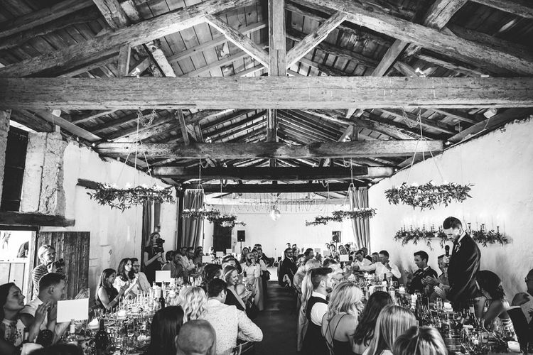 Wedding Reception | Outdoor Wedding at Chateau Rigaud in France | Real Simple Photography | Yellow Gazelle Film