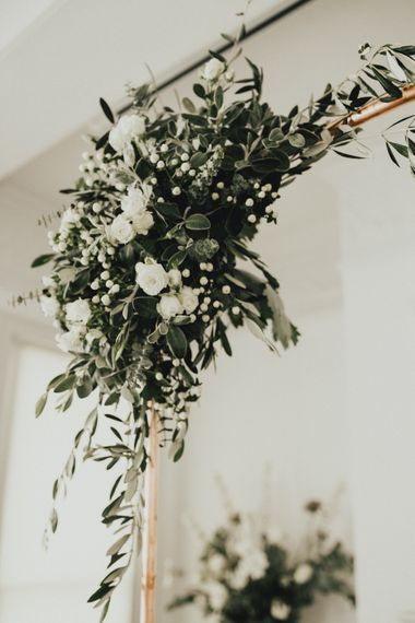 Copper & Foliage Details For Wedding