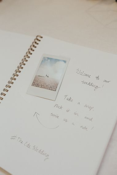 Wedding Guest Book With Polaroids