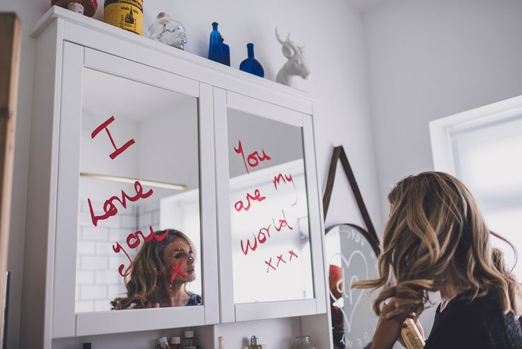 Love Notes Written on the Mirror