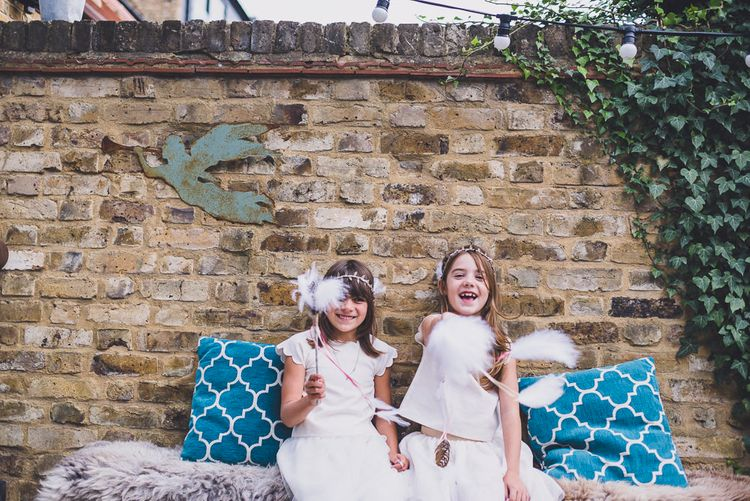 Flower Girls in Tulle Marks and Spencer Skirts