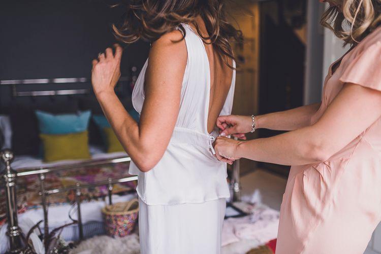 Bride in Ghost Wedding Dress