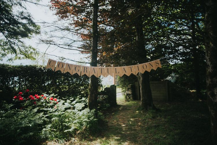 Congratulations Bunting | 2 Day Festival Theme Wedding | Colin Ross Photography