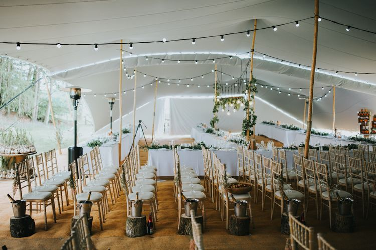 Stretch Tent Aisle | 2 Day Festival Theme Wedding | Colin Ross Photography