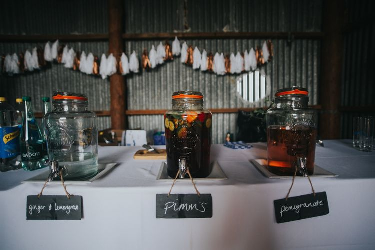 Drinks Dispensers | 2 Day Festival Theme Wedding | Colin Ross Photography