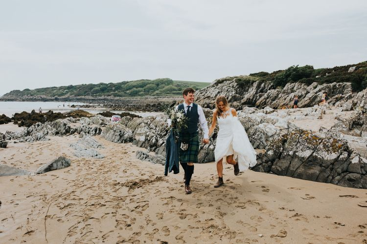 Bride in St Patrick Bridal Gown | Groom in Tartan Kilt | 2 Day Festival Theme Wedding | Colin Ross Photography