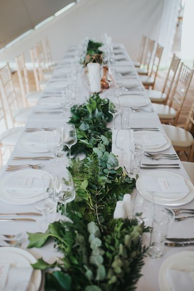 Greenery Table Runner | 2 Day Festival Theme Wedding | Colin Ross Photography