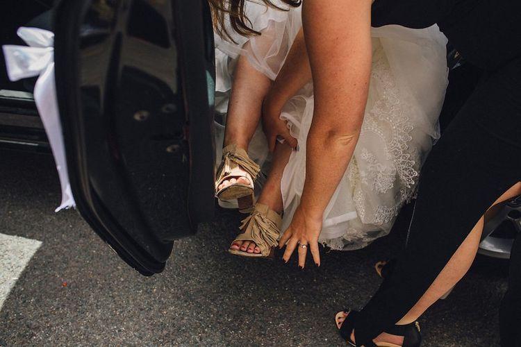 Tassled Flats For Wedding