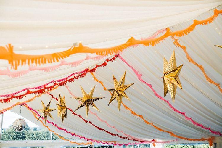 Star Lanterns For A Marquee Wedding