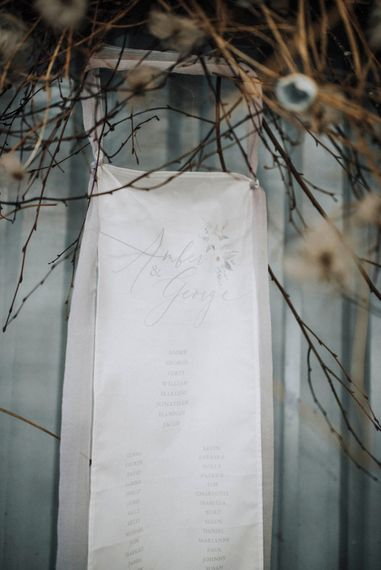 Table Plan | Powder Blue Spring Wedding Inspiration Styled by The Little Lending Co | Megan Duffield Photography