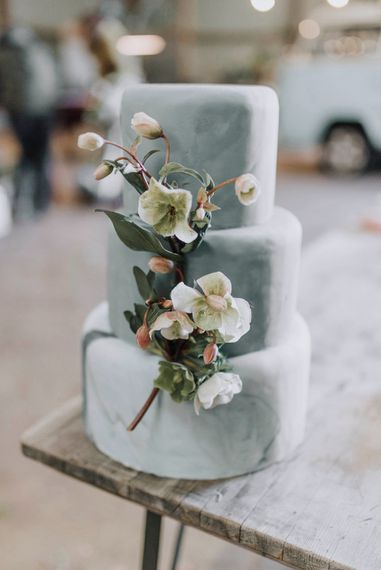 Blue Wedding Cake by Beth Haxby Cakes | Powder Blue Spring Wedding Inspiration Styled by The Little Lending Co | Megan Duffield Photography