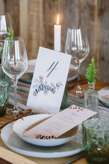 Botanical Stationery Suite On Recycled Paper With Vegetable Based Inks | Image by Sarah London Photography | Having A Eco Friendly Wedding