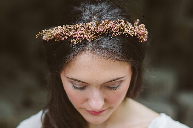 Dried Flower Crown By Lotus Floral Art | Image by Sarah London Photography | Having A Eco Friendly Wedding