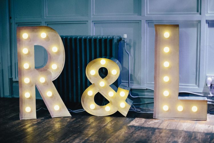 Giant Light Up Letters Wedding Decor