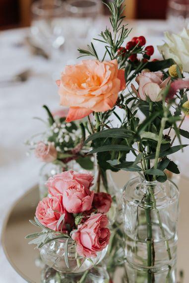 Jam Jar Flowers For Wedding Tables