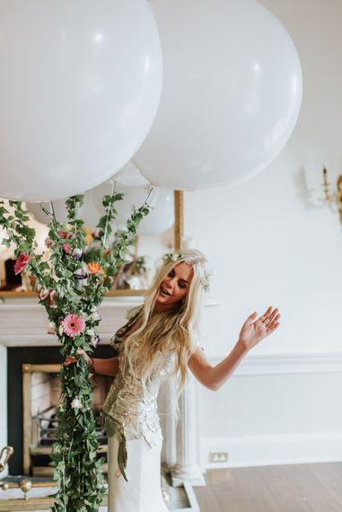 White Balloon Wedding Decor For Wedding