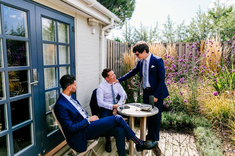 Groomsmen Getting Ready   Colourful Coastal Wedding at The Gallivant in Camber Sands with DIY Decor   Epic Love Story Photography