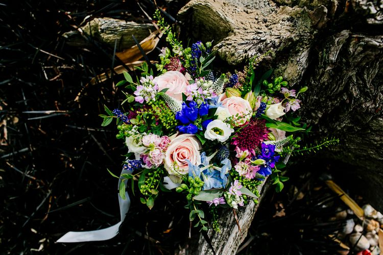 Colourful Wedding Bouquet   Colourful Coastal Wedding at The Gallivant in Camber Sands with DIY Decor   Epic Love Story Photography