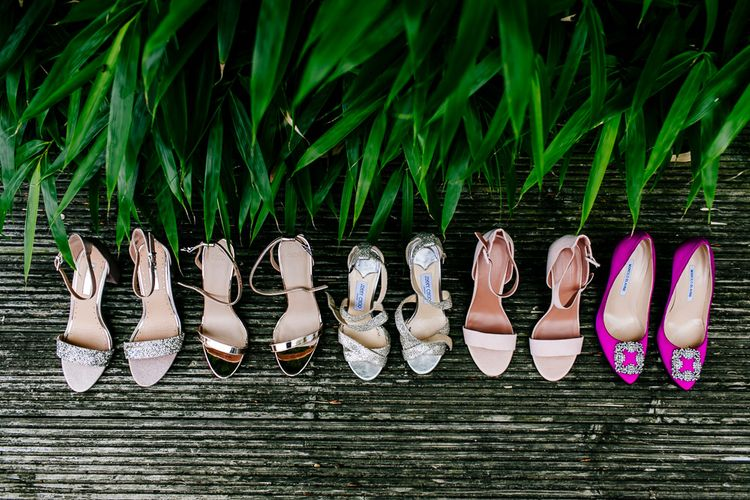 Wedding Shoes   Pink Hangisi Manolo Blahnik   Colourful Coastal Wedding at The Gallivant in Camber Sands with DIY Decor   Epic Love Story Photography