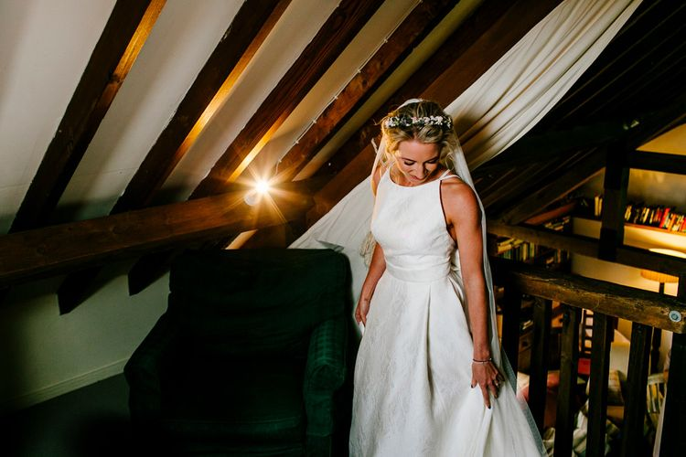 Bride in Jesus Peiro Wedding Dress   Colourful Coastal Wedding at The Gallivant in Camber Sands with DIY Decor   Epic Love Story Photography