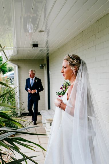 Bridal Entrance in Jesus Peiro Wedding Dress   Colourful Coastal Wedding at The Gallivant in Camber Sands with DIY Decor   Epic Love Story Photography