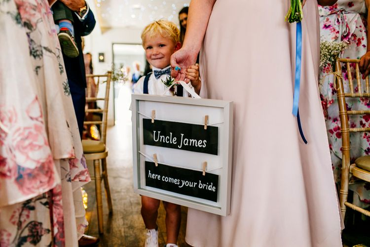Here Comes The Bride Sign   Colourful Coastal Wedding at The Gallivant in Camber Sands with DIY Decor   Epic Love Story Photography