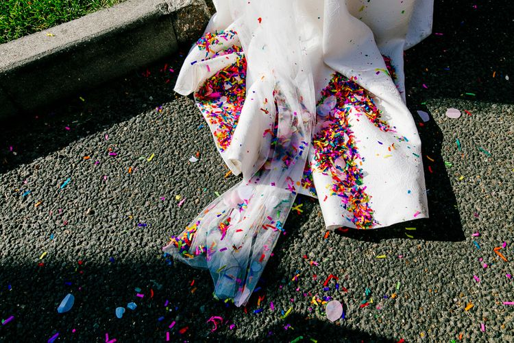 Confetti   Jesus Peiro Wedding Dress   Colourful Coastal Wedding at The Gallivant in Camber Sands with DIY Decor   Epic Love Story Photography