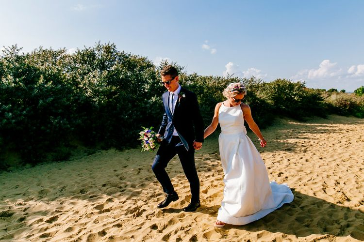 Beach Portrait   Bride in Jesus Peiro Wedding Dress   Colourful Coastal Wedding at The Gallivant in Camber Sands with DIY Decor   Epic Love Story Photography