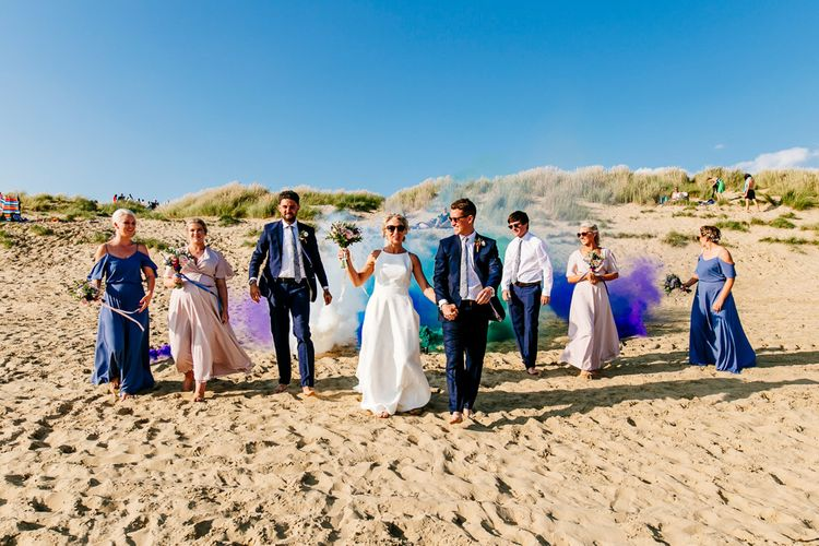 Wedding Party   Colourful Coastal Wedding at The Gallivant in Camber Sands with DIY Decor   Epic Love Story Photography
