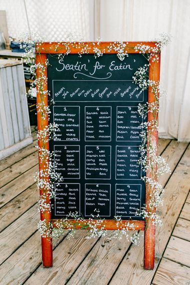 Chalkboard Seating Chart   Colourful Coastal Wedding at The Gallivant in Camber Sands with DIY Decor   Epic Love Story Photography