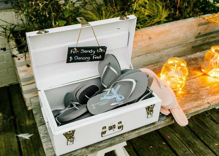 Flip Flops   Colourful Coastal Wedding at The Gallivant in Camber Sands with DIY Decor   Epic Love Story Photography