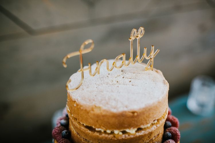 Finally Cake Topper | Bright Wedding at The Oyster Shed in London | Chris Barber Photography