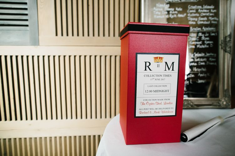 Post Box for Wedding Cards | Bright Wedding at The Oyster Shed in London | Chris Barber Photography