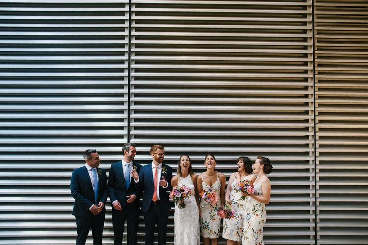 Wedding Party | Bright Wedding at The Oyster Shed in London | Chris Barber Photography