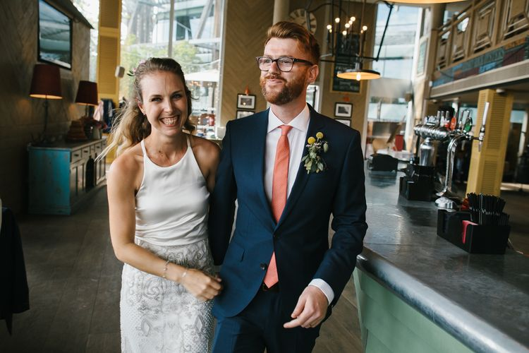 Bride & Groom | Bright Wedding at The Oyster Shed in London | Chris Barber Photography